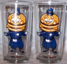 McDonald's Glass Early Collector Set 1970's Big Mac - $8.00