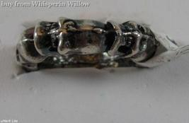 Sterling Silver Band of Infinity Skulls Biker Ring 7 - $24.95