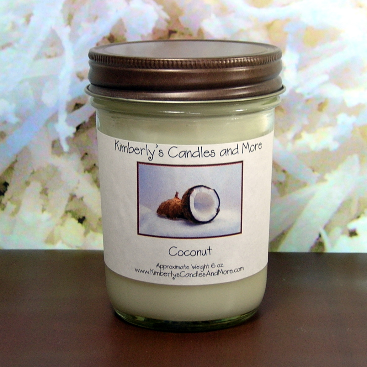 Coconut PURE SOY Jelly Jar Candle