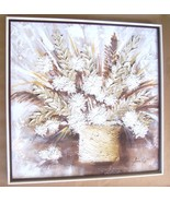 SIGNED STEPHEN KAYE TEXTURED ART FLOWERS PAINTI... - $584.15