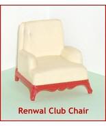 Renwal Cream Color   Club  Armchair   Dollhouse Furniture  Hard Plastic - $16.50