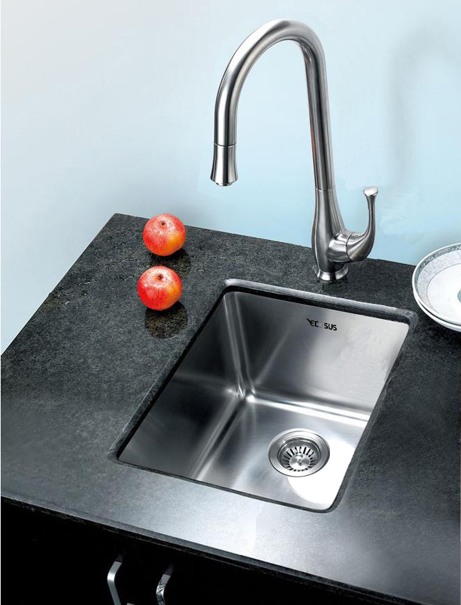 replacing undermount kitchen sink 15 quot ecosus 174 stainless steel kitchen bar sink small radius 4768