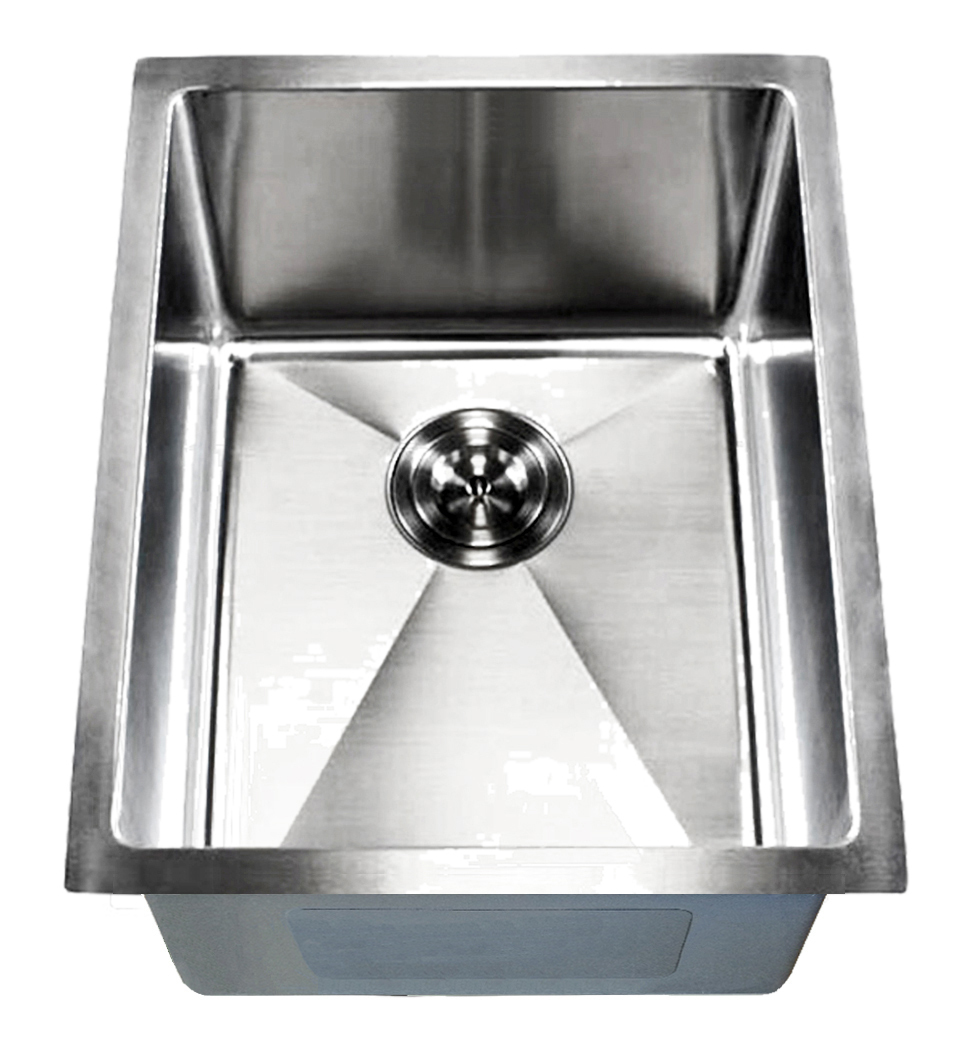 restaurant kitchen sinks stainless steel 15 quot ecosus 174 stainless steel kitchen bar sink small radius 7774
