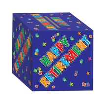 """Beistle Retirement Card Box 12"""" x 12""""- Pack of 6 - $57.13"""
