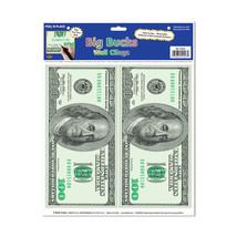 """Beistle Big Bucks Peel 'N Place 12"""" x 15"""" Sheet (2 Count)- Pack of 12 - $32.72"""