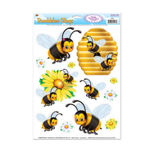 "Beistle Bumblebee Clings 12"" x 17"" Sheet (6 Count)- Pack of 12 - €24,11 EUR"