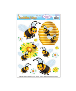 """Beistle Bumblebee Clings 12"""" x 17"""" Sheet (6 Count)- Pack of 12 - $28.47"""