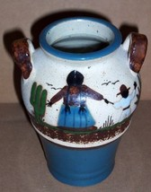 SIGNED TONALA MEXICO NATIVE LATINO POTTERY ART VASE JUG - $55.49