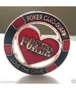 """Poker Card Guard With Plastic Case """"Love the Game"""" Card Protector - $7.93"""