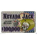 $100,000 Nevada Jack 40 Gram Ceramic Poker Plaque - $11.08