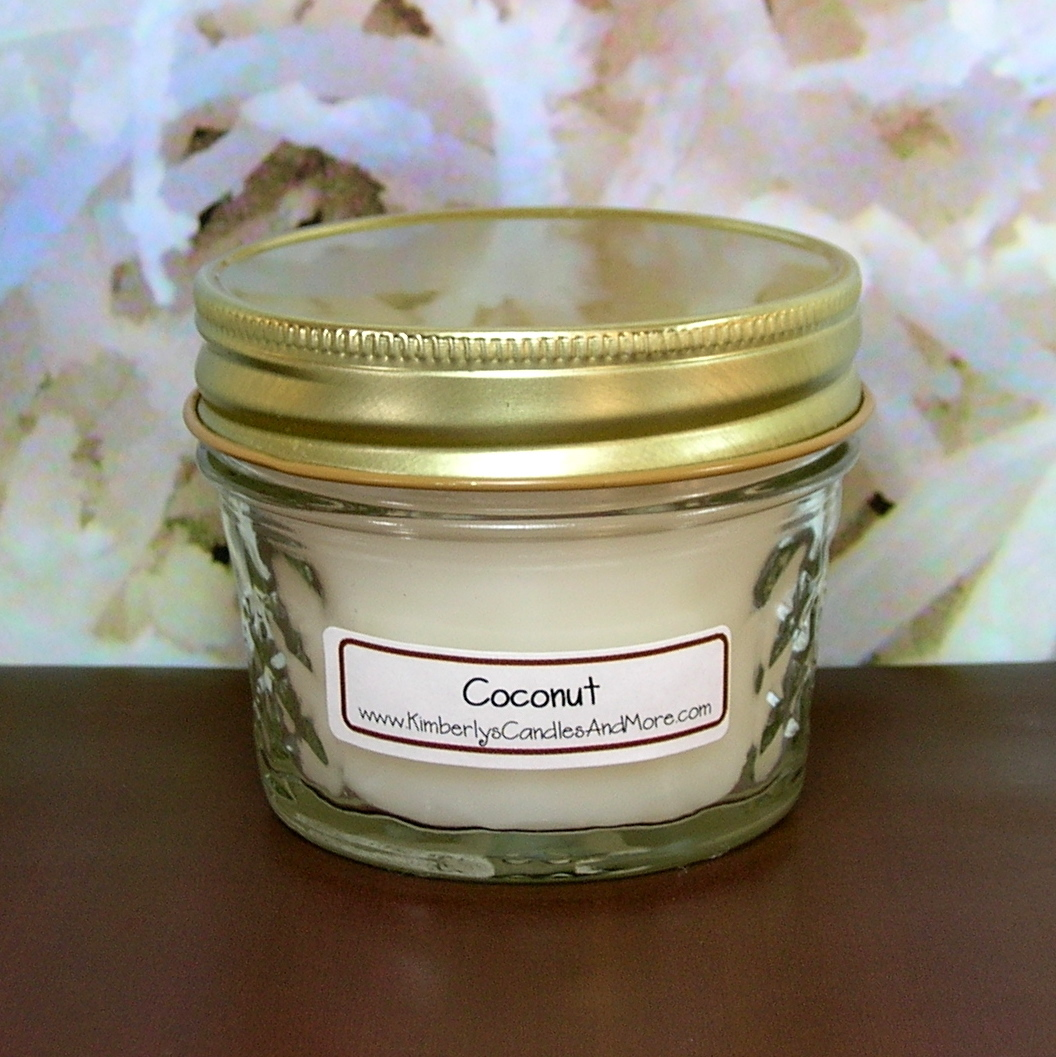 Coconut PURE SOY 4 oz. Jelly Jar Candle