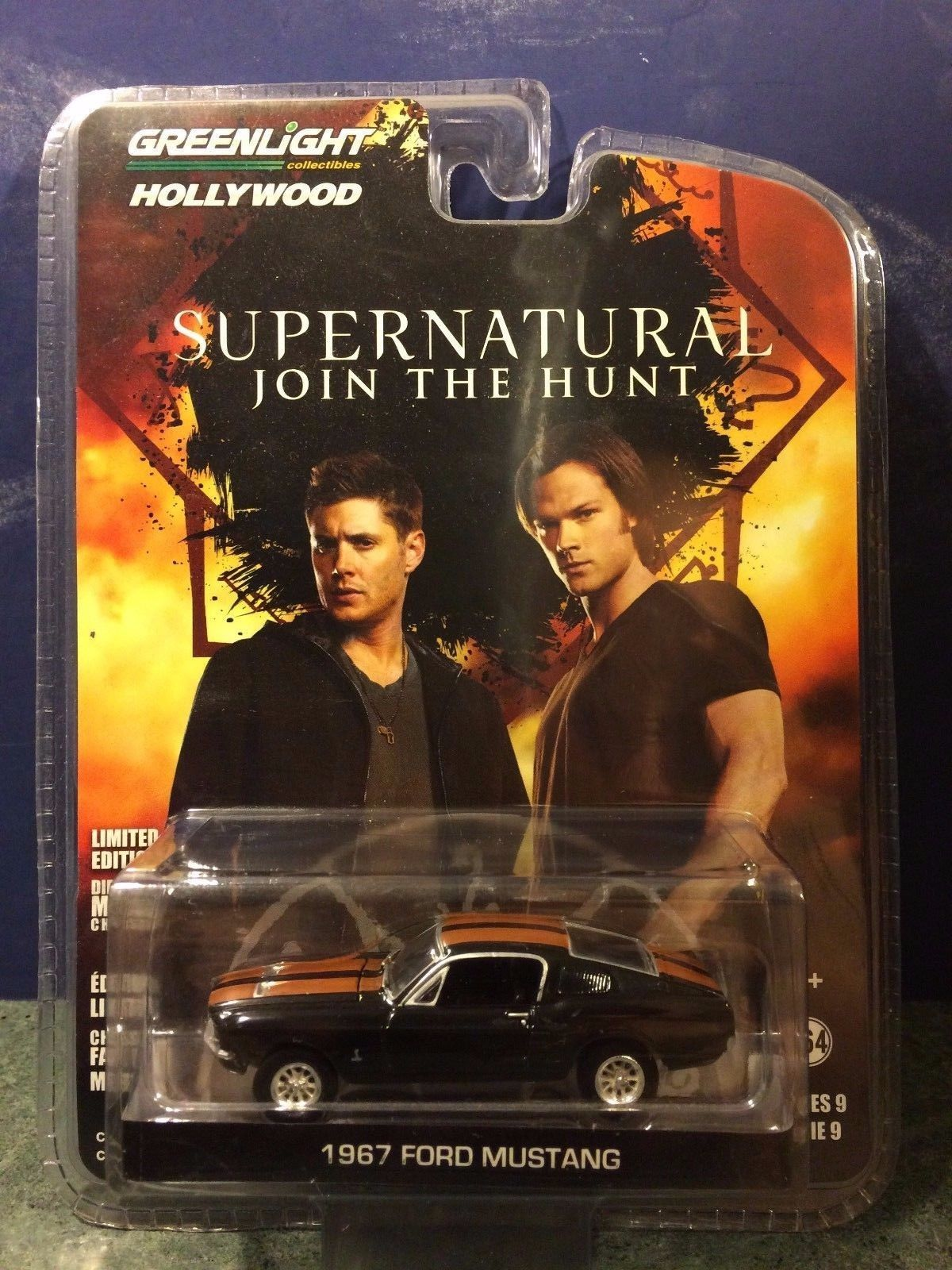 GREENLIGHT COLLECTIBLES HOLLYWOOD SERIES 9: SUPERNATURAL 1967 FORD MUSTANG 1:64