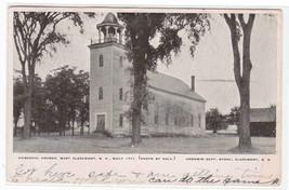 Episcopal Church West Claremont New Hampshire 1912 postcard - $6.73