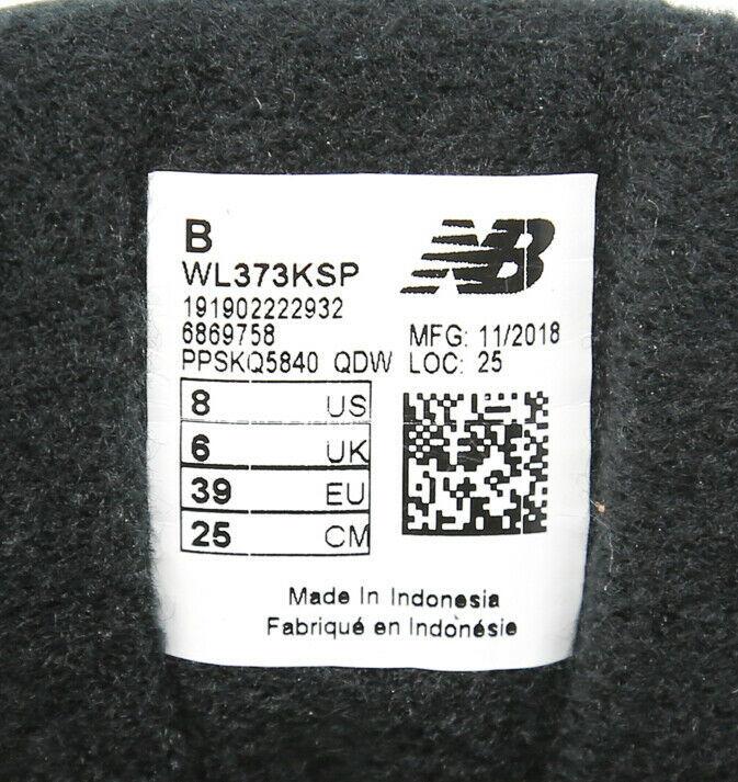 New Balance Nb 373 WL373KSP Negro Plata Visón Mujer Talla 8 Eur 39 UK 6 Running image 10