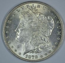 1878 P Morgan circulated silver dollar AU details - $54.00