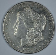 1878 S Morgan circulated silver dollar AU details - $55.00