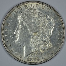 1879 S Morgan circulated silver dollar AU details - $57.00