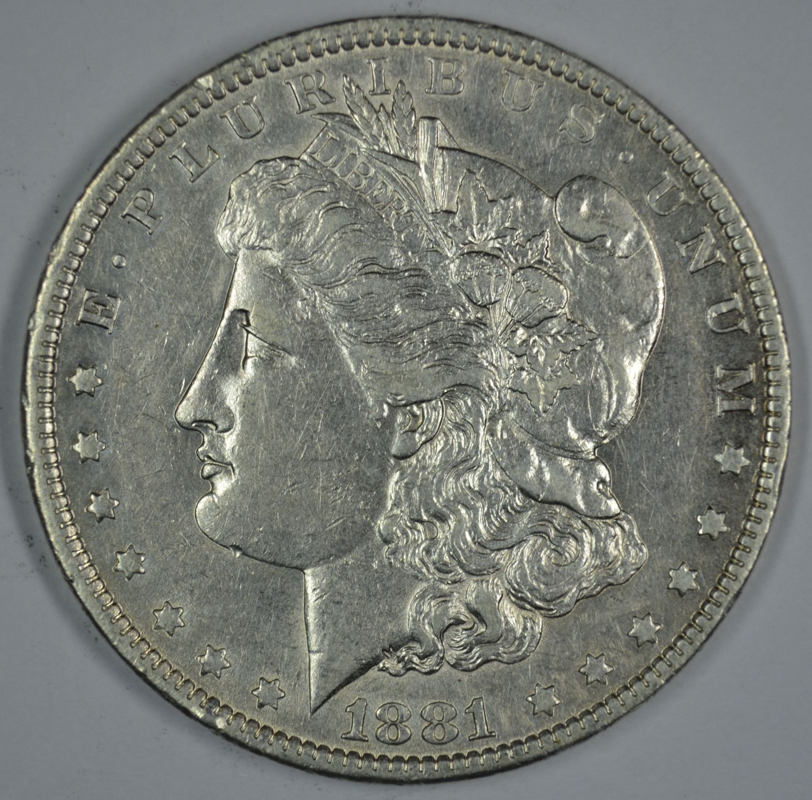 Primary image for 1881 O Morgan circulated silver dollar XF details