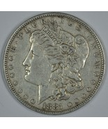 1881 P Morgan circulated silver dollar VF details - $34.00