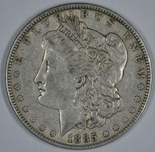 1885 P Morgan circulated silver dollar VF details - $38.00