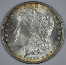 1885 O Morgan silver dollar BU details - $60.00