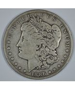 1886 P Morgan circulated silver dollar VG details - $29.50