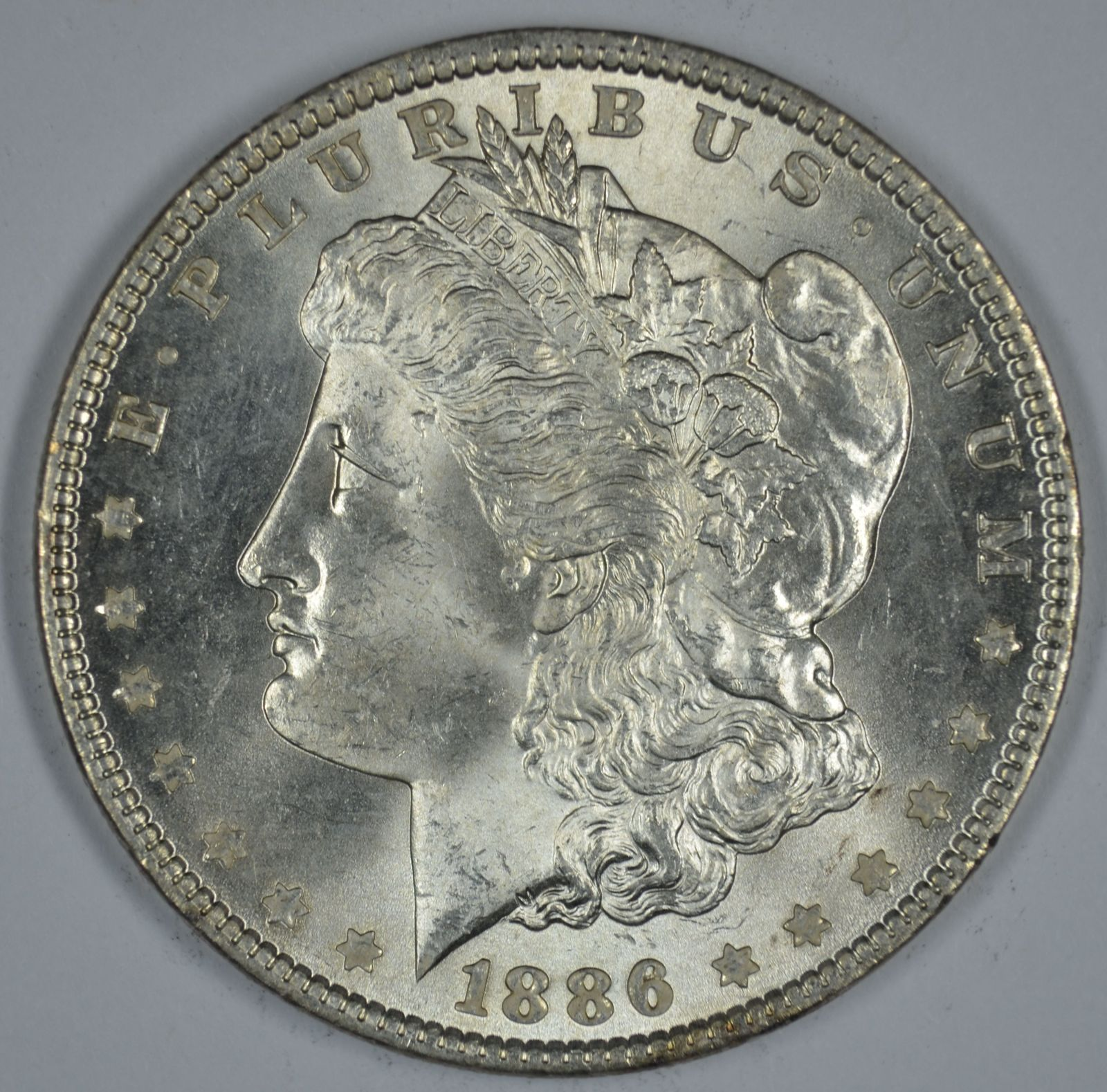 Primary image for 1886 P Morgan silver dollar BU details