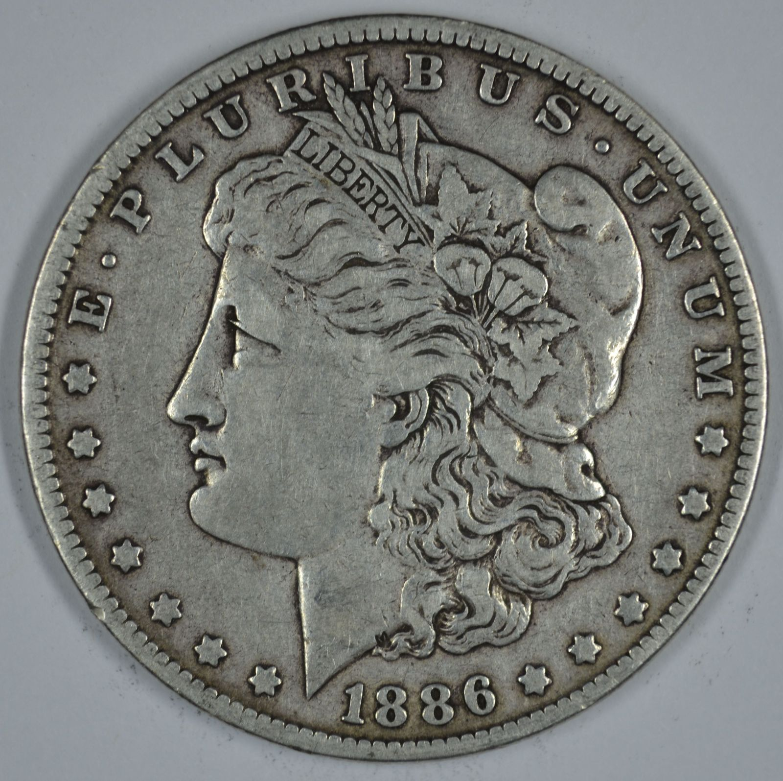 Primary image for 1886 O Morgan circulated silver dollar VG details