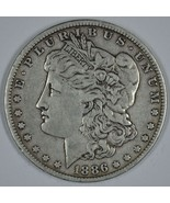 1886 O Morgan circulated silver dollar VG details - $42.00