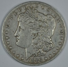 1886 O Morgan circulated silver dollar F details - $50.00