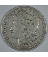1886 O Morgan circulated silver dollar F details - $50.00