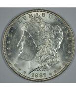 1887 P Morgan silver dollar BU details - $57.50