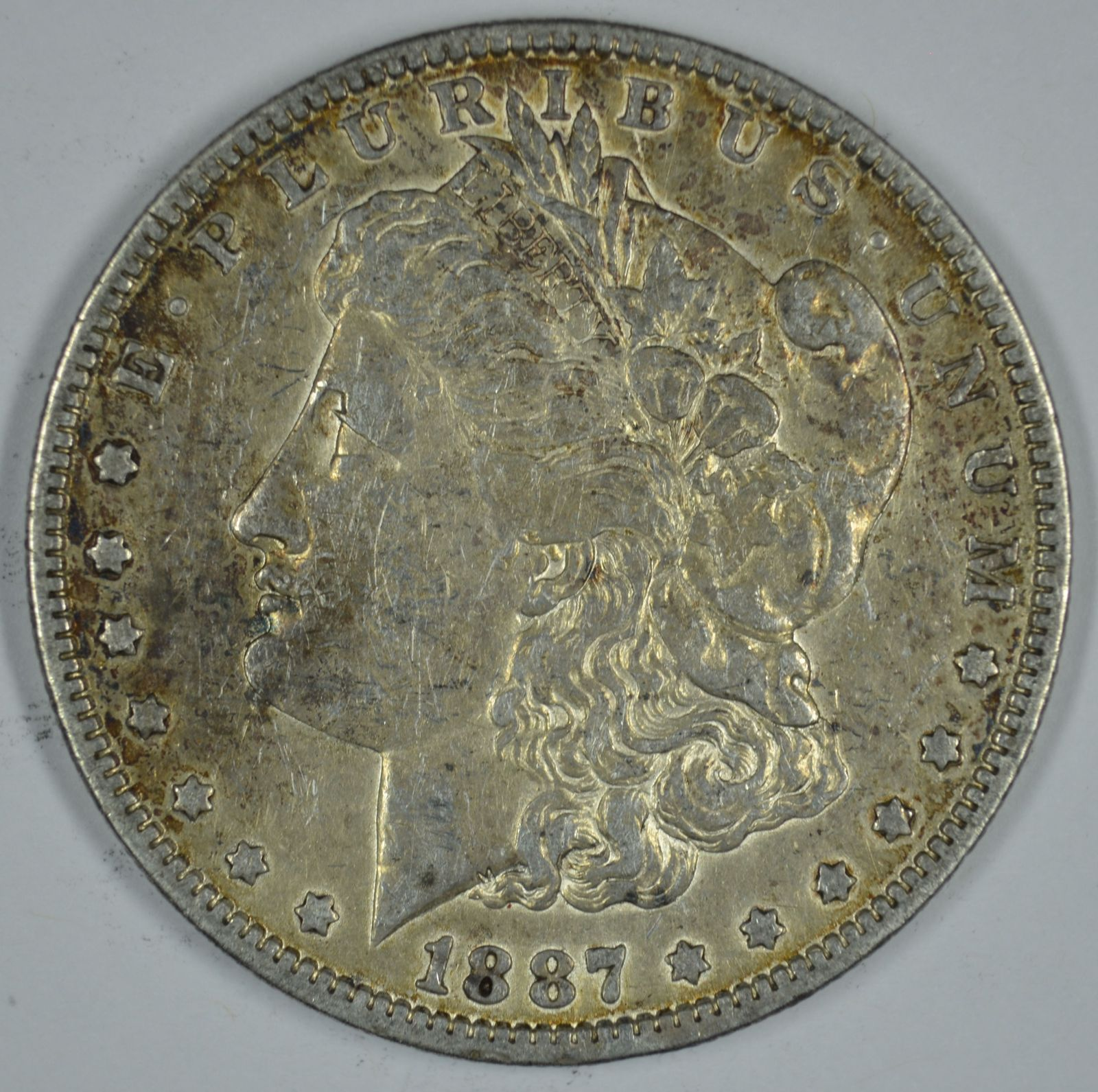 Primary image for 1887 O Morgan circulated silver dollar VF details