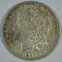 1887 O Morgan circulated silver dollar VF details - $46.00