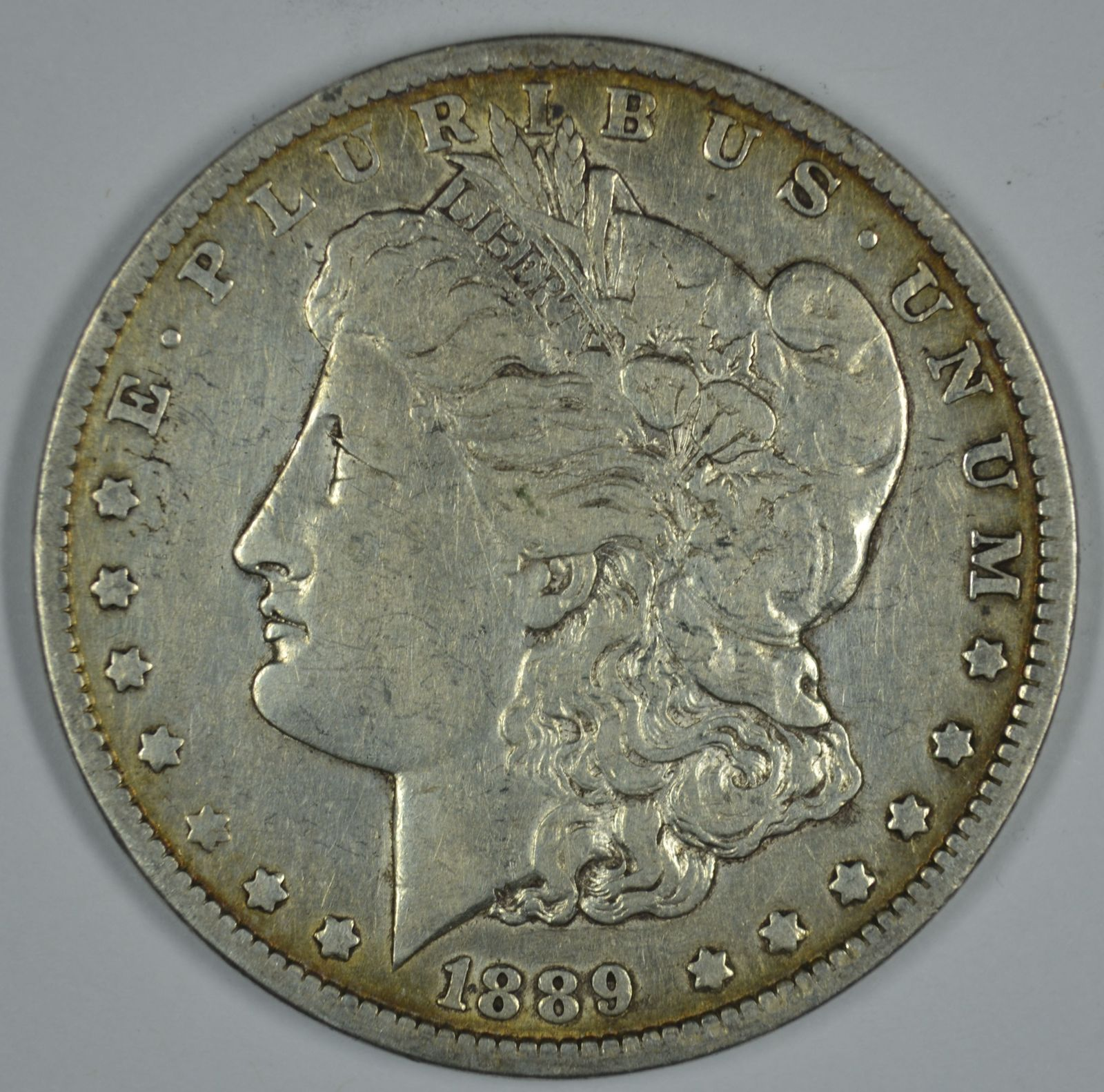 Primary image for 1889 O Morgan circulated silver dollar F details