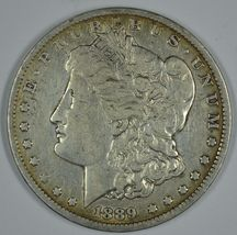 1889 O Morgan circulated silver dollar F details - $40.00