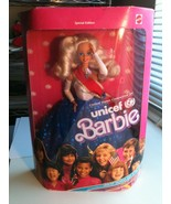 NEW NIB BARBIE DOLL 1989 UNITED STATES COMMITTEE FOR UNICEF BLONDE - $4.94