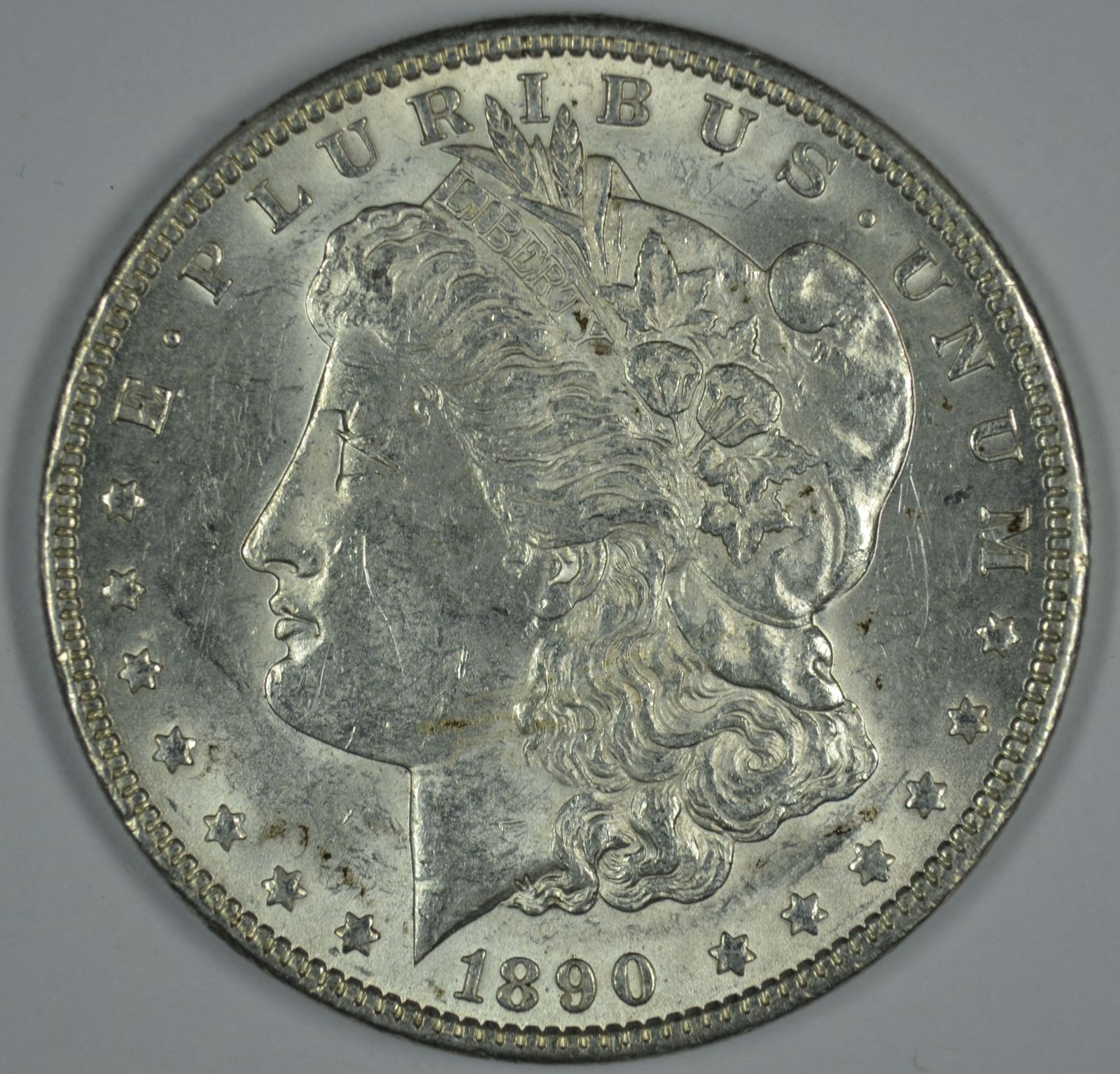 Primary image for 1890 P Morgan circulated silver dollar XF details