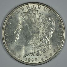 1890 P Morgan circulated silver dollar AU details - $48.50
