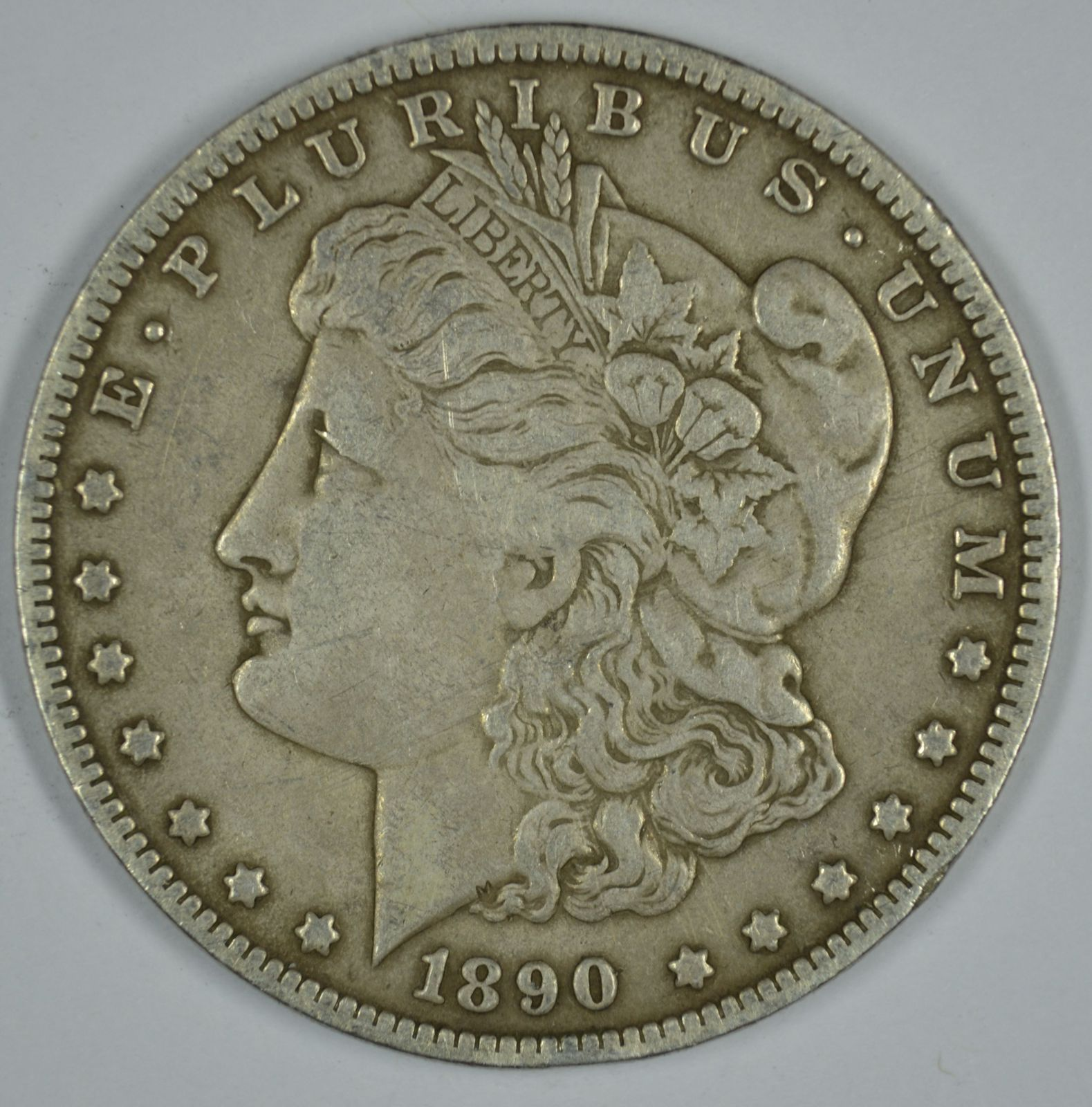 Primary image for 1890 O Morgan circulated silver dollar VG details