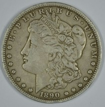1890 O Morgan circulated silver dollar VG details - $35.00