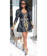 Couture Designer Mary McFadden sequins beaded Coat Jacket Skirt Suit 12 ... - $1,499.99