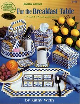 American School Plastic Canvas For the Breakfast Table Leaflet #3165 - $5.95