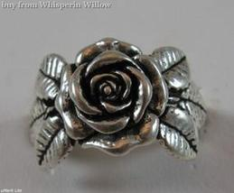 Sterling Silver The Rose Biker Ring 9 - $24.95