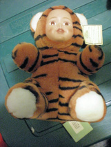 "Baby Face Collection Toy Works Black Tiger  10"" Stuffed Doll Animal  - $9.00"