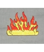 Cool Flames Embroidered Patch - $1.99