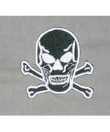 Skull and Crossbones Embroidered Patch - $3.95