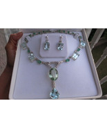Huge VVS 143 ct aquamarine Emerald diamond 14k white gold necklace choke... - $49,999.99