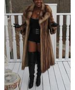 Full length designer Genuine Stone Marten Sable Fur coat  stroller S-M 2-10 - $2,299.99