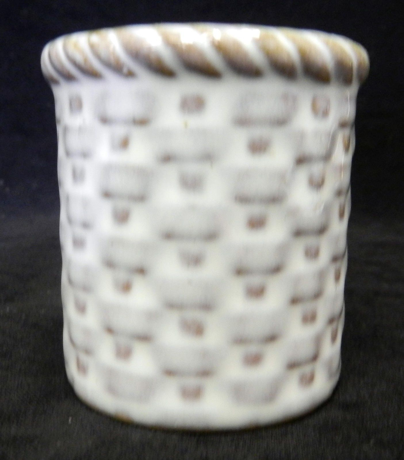 Vintage Karol Western Las Vegas Nv Cactus Dice Basket Souvenir Toothpick Holder Nevada